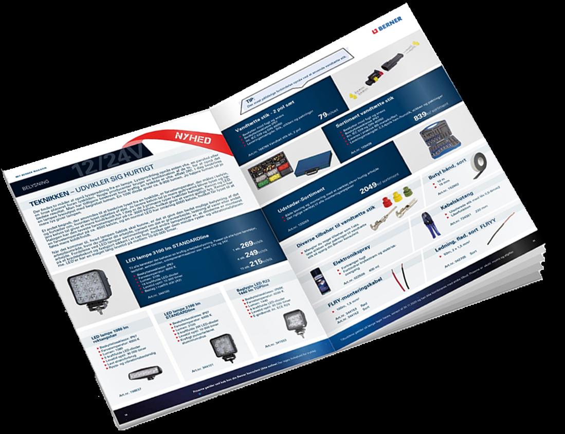 Produktkatalog och broschyrer