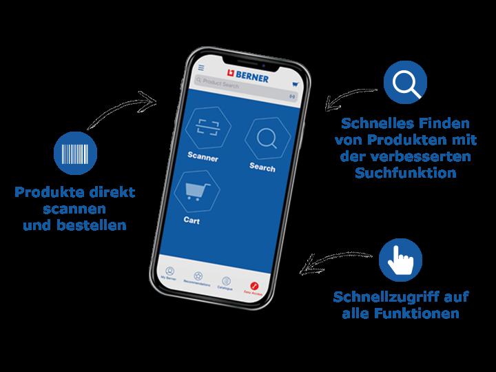 Bestellen Sie noch schneller mit der Berner App
