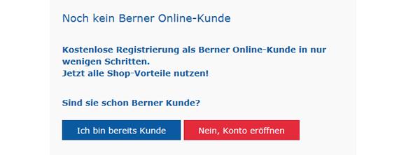 So registrieren Sie sich im Berner Onlineshop