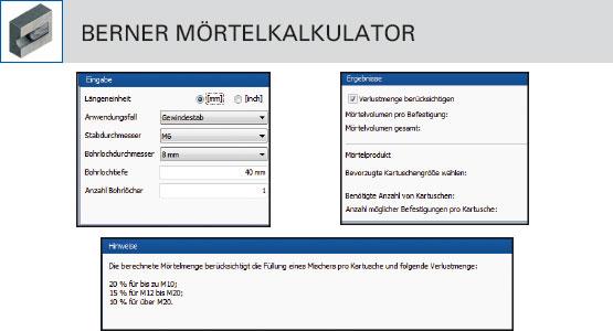Berner Mörtelkalkulator